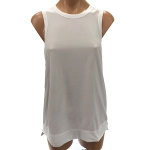 HELMUT LANG S White Tank Top Zip Up Made in USA